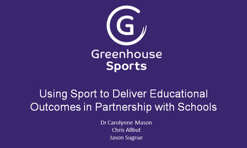 Using Sport to Deliver Educational Outcomes in Partnership with Schools
