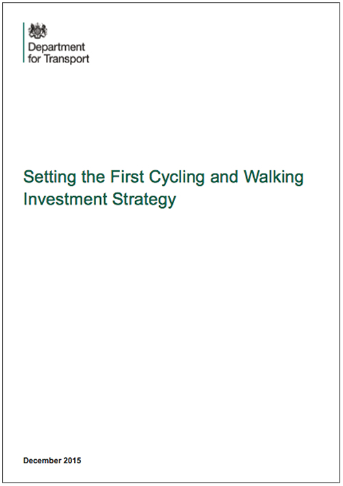 Setting the First Cycling and Walking Investment Strategy